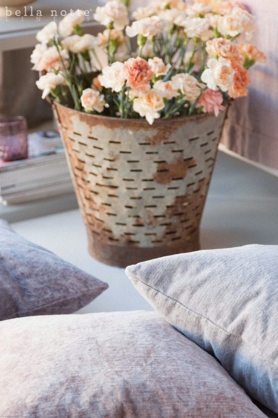 Lily Lane Home - Bella Notte Linens Powder Hedrix Pillows