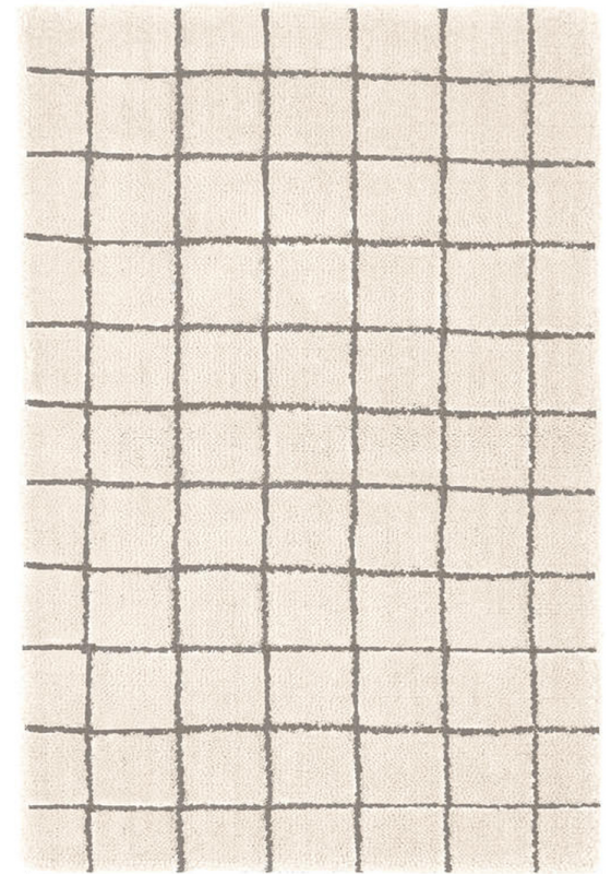 grid wool tufted